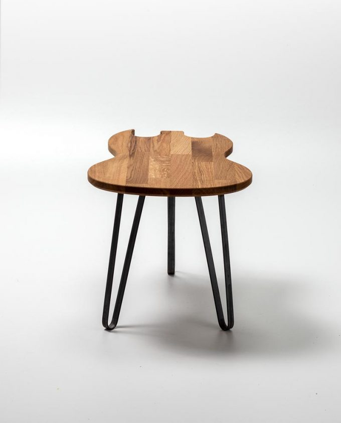 Ruwdesign Guitar Table Double Cut Back