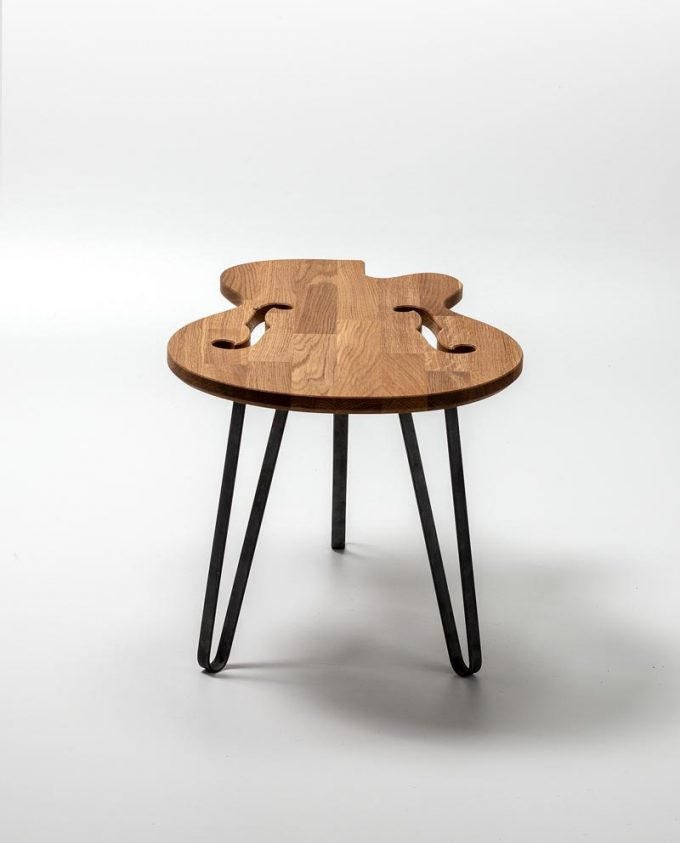 Ruwdesign Guitar Table Hollow Body Back